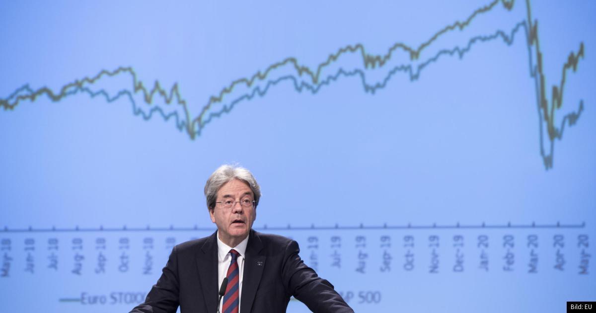 Prognos: Historiskt tapp för EU:s ekonomi