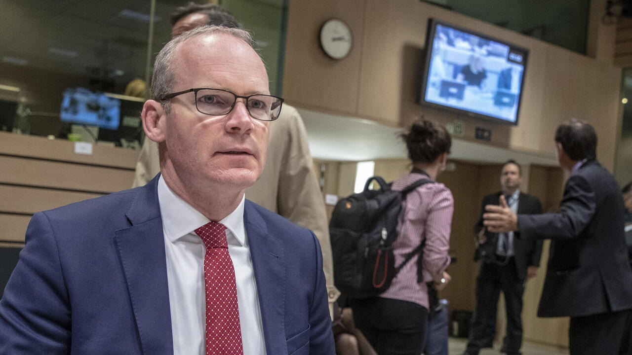 Irlands utrikesminister Simon Coveney. Arkivbild.