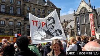 Demonstration om TTIP i Amsterdam. Arkivbild.