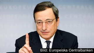 ECB:s chef Mario Draghi.